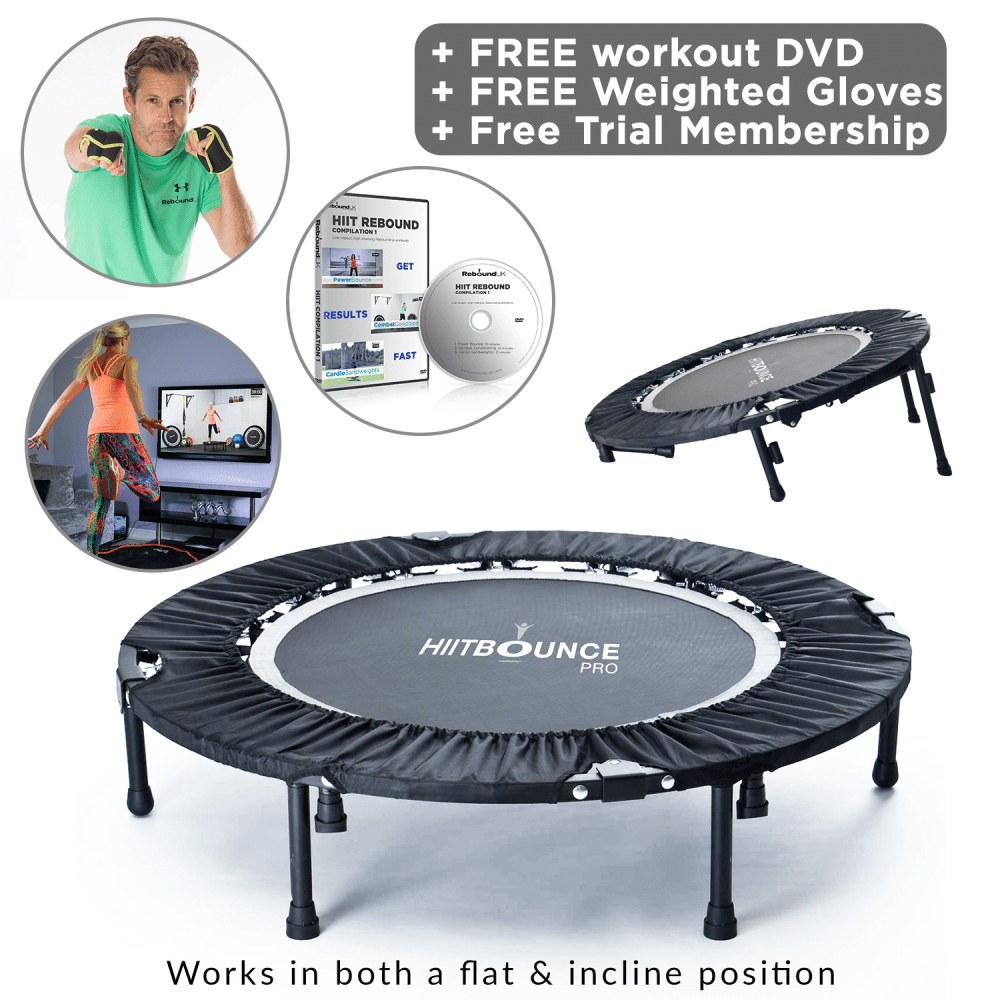 HIIT Bounce Pro Mini Trampoline Package